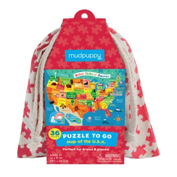 U.S.A. Map Puzzle is a great airplane activity for preschoolers.