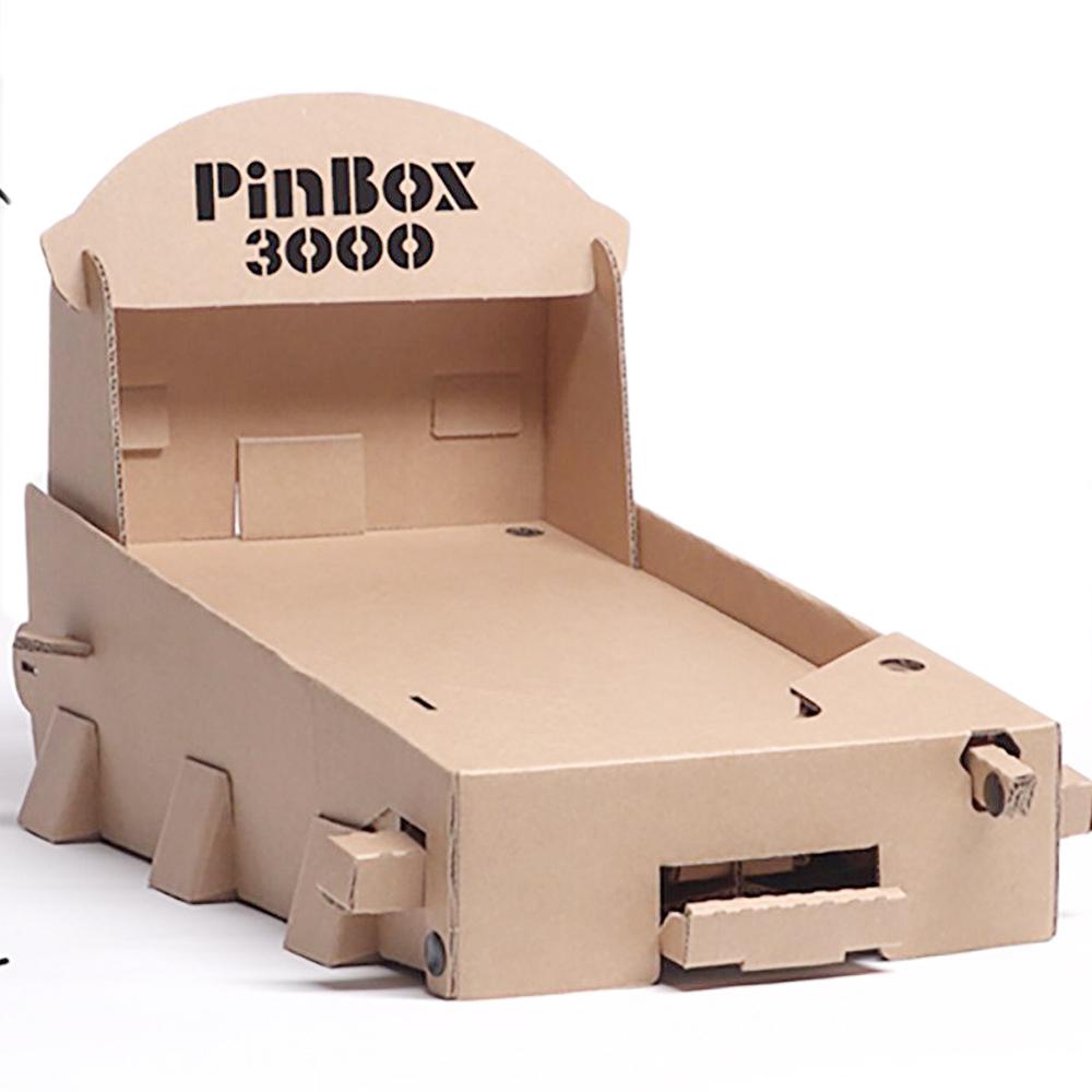 how to build a pinball flipper cardboard